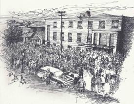Siege of Mine Mill Local 598 Hall (Oryst Sawchuk)