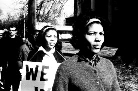 Demonstration at Indianola, MS, Courthouse, Jan. 4, 1965