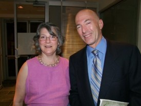 Casey Roberts and Jury President Karin Montin at John Glassco Award Gala