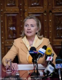 """Hillary (Caesar) Clinton declared on Oct. 20, 2011: """"We came, we saw, he died."""""""