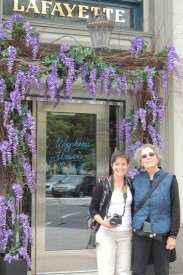 Tania Martin and Carla Blank in front of the Lafayette Hotel